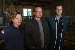 Isabelle, Sebastien Robidel et Yannick Bodin